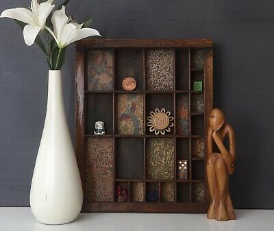 AU98.70 • Buy Lovely Printers Tray Artwork With William Morris Prints And Curios