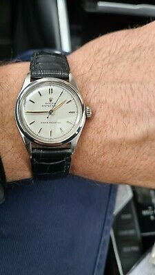 $ CDN0.42 • Buy Rare Steel Rolex Oyster Royal Ref. 6144 Vintage Watch From 1951 Super Condition