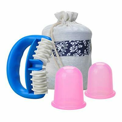Aogbithy Anti Cellulite Silicone Cup And Massager Roller Set Body Massager Skin • 8.99£