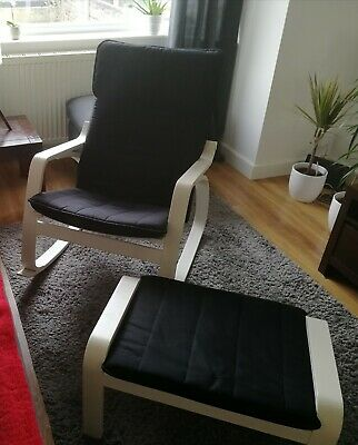 Ikea Poang Chair And Footstool. Excellent Condition  • 50£