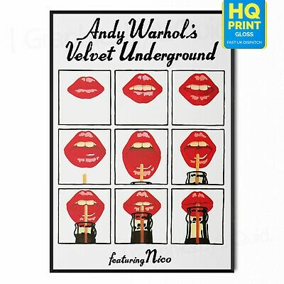 £7.99 • Buy Andy Warhol The Velvet Underground Retro Poster Print Pop Art| A4 A3 A2 A1 |