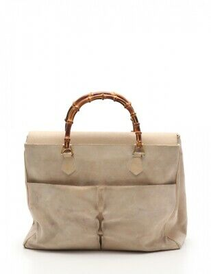 $ CDN238.56 • Buy Gucci Bamboo Handbags Leather Light Beige Vintage 2Way 002 2855 0322 Women 'S