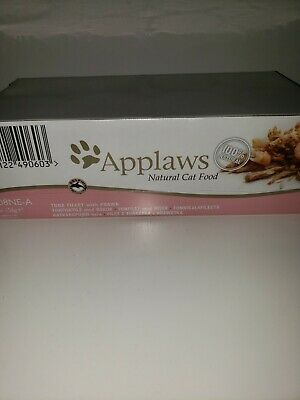 *SEALED* Applaws Natural Cat Food, Tuna Fillet With Prawn, 24 X 156g Cans • 32£