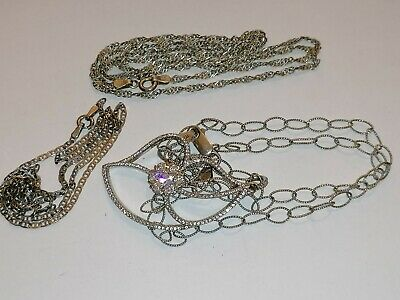 $ CDN82.05 • Buy Lot Sterling Silver 925 Used 3 Necklace