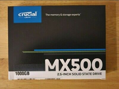 Crucial MX500 1TB SSD - NAND, SATA, 2.5 Inch - New & Sealed - Free Postage  • 67.07£
