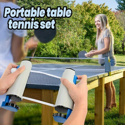 AU25.07 • Buy Indoor Games Retractable Table Tennis Ping-Pong Portable Net Kit Replacement Set