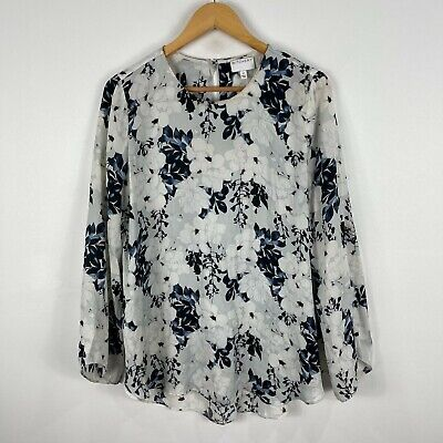AU22.95 • Buy Witchery Womens Top 12 Multicoloured Floral Long Sleeve Tunic