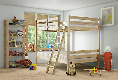 £339.95 • Buy Nepal 4ft 6 DOUBLE HEAVY DUTY Solid Pine  Bunk Bed (EB83)