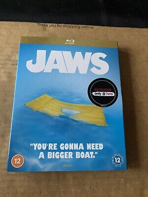 Jaws (1975) Blu Ray Steven Spielberg BRAND NEW & SEALED With Rare Slipcase • 14.99£