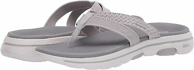Skechers Women's Go Walk 5-Sun Kiss Flip-Flop, Grey, Size 12.0 R6JJ • 14.06£