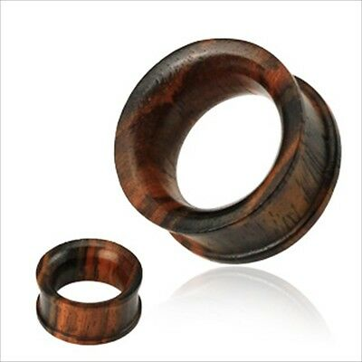 $6.94 • Buy 1 PAIR Ear Plugs Gauges Concave Sono Wood Double Flare Saddle Organic Tunnels