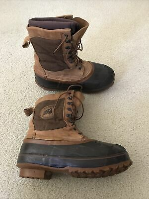 Lacrosse Brown And Tan Winter Boots With Liners & Fiberglass Shank - Mens 9 • 23.15£