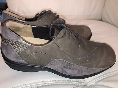 ZIERA SUPER SUPPORT LADIES Comfort Trainer Walking SHOES  Size 5.5  Grey Taupe • 5£