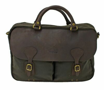 £139 • Buy Barbour Wax And Leather Briefcase In Olive