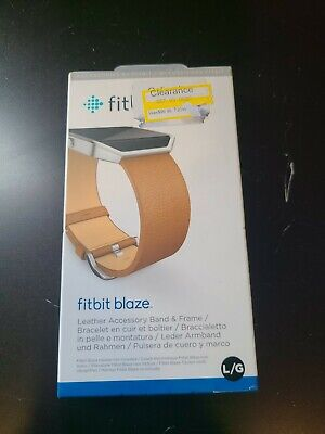 $ CDN49.98 • Buy Fitbit Blaze Camel Leather Band W/Stainless Steel Frame/Buckle Lg WAS$99.95