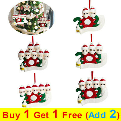 Christmas Tree Ornament Family Lockdown Hanging 2020 Quarantine Xmas Decoration • 2.79£
