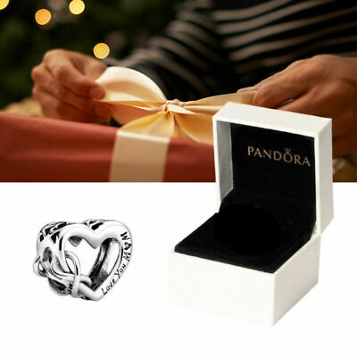 Silver ALE S925 Genuine Pandora Charm Love You Mum Infinity Heart With Gift Box • 8.99£