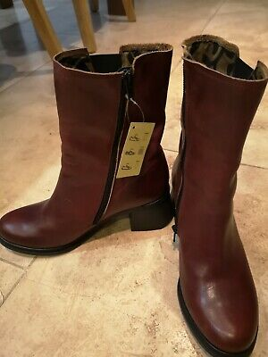 £45 • Buy New With Tags Fly London Jado Red Berry Boots Size 3 Eur 36