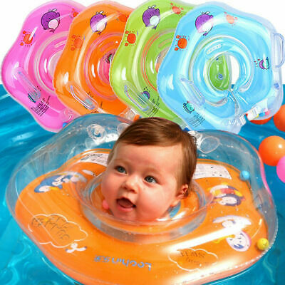 £5.47 • Buy Newborn Baby Inflatable Swimming Neck Collar Bath Shower Pool Safety Aid Rings