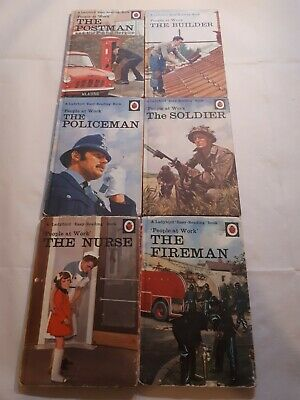 VINTAGE LADYBIRD EASY READING BOOKS PEOPLE AT WORK X6: Series 606B • 5.99£