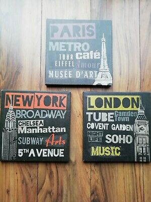 London  Paris And New York Canvas Pictures • 2£