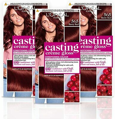 L'Oreal Casting Creme Gloss Berry Red 565 Hair Dye Colour Semi Permanent 1 Pack • 9£