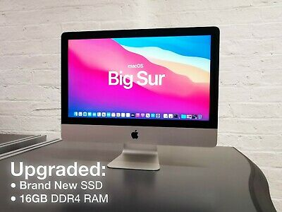 🍎 Apple IMac A1418 2017 21.5 Quad Core I5 3.40GHz ➤ 500GB SSD ➤ Big Sur Ⓘ🅜🅐🅒 • 889£