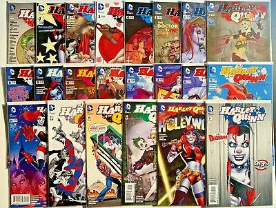 $ CDN151.19 • Buy DC New 52 HARLEY QUINN Comic Set #0-21 VF+/NM- Bagged And Boarded