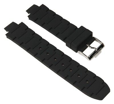 Jacques Lemans Milano Chronograph Watch Strap Silicone Black 1-1768A 1-1768 • 57.98£