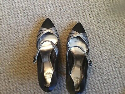 Laura Ashley Ladies Black And Pewter 3 Inch Heel Evening Shoes Size 5 Bnwt • 25£