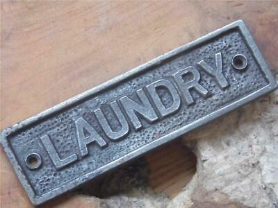 Vintage Style Solid Cast Iron Sign Laundry Wall Plaque 45 X 152cm Screws Inc Fab • 5.99£