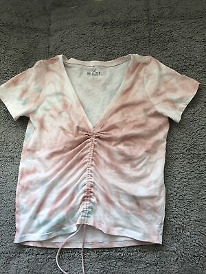 AU1.79 • Buy Hollister T-Shirt- Ruched Front- Size S