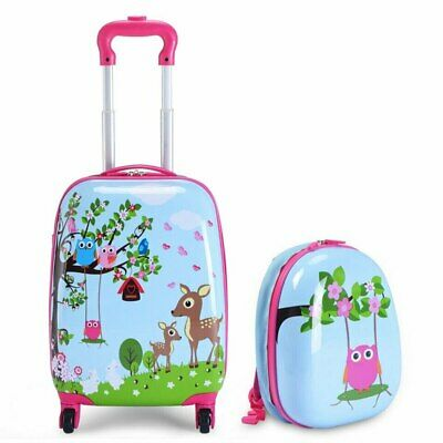 £60 • Buy Children's Animal Print ABS Trolley Suitcase And Backpack Luggage