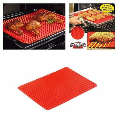 NEW Pan Non Stick Fat Reducing Silicone Cooking Mat Oven Baking Tray Sheets • 4.92£