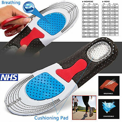 Work Boots Orthotic Foot Arch Support Heel Shoe Inserts Gel Massaging Insoles • 2.99£