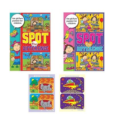 £3.99 • Buy 2 X Spot The Difference Children's Kids  Activity Books Book