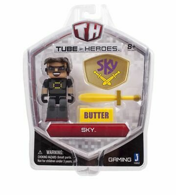 AU17.99 • Buy Minecraft Tube Heroes Sky Butter Action Figure Toy Set Collectible BRAND NEW