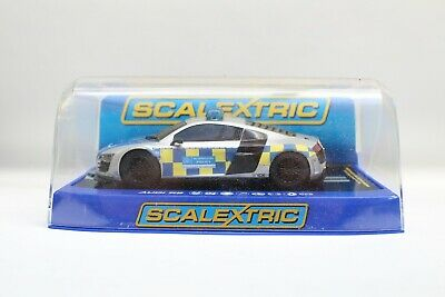 £99.50 • Buy Scalextric C3374 Audi R8 Uk/german Police Car Digital Fitted Lights 1/32 F26
