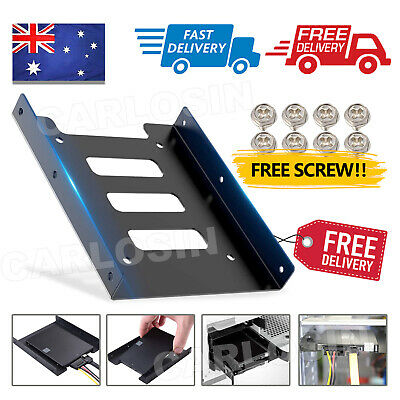 AU4.75 • Buy PC Metal 2.5  To 3.5  SSD To HDD Mounting Adapter Bracket Hard Drive Holder