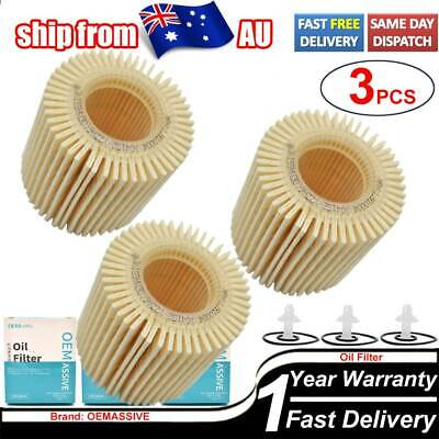 AU16.99 • Buy 04152-YZZA6 3X Oil Filter For Toyota Corolla ZRE152 2ZR-FE Prius ZVW30 1.8L AU