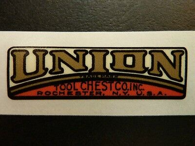 $20 • Buy  UNION TOOL CHEST EMBLEM  For Vintage Machinist Chest - BUY 2 GET 3rd FREE
