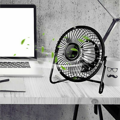AU21.95 • Buy 6'' USB Powered Portable Table Fan Mini USB Desk Fan Small Quiet Personal Cooler