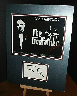 £80 • Buy FRANCIS FORD COPPOLA The Godfather Genuine Authentic Signed 16x12 Display UACC