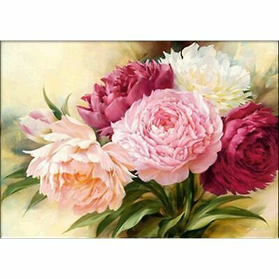 AU12.49 • Buy 5D Diamond Painting Kits Full Drill Art Embroidery Decors Peony Flower DIY Gifts