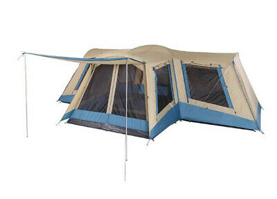 AU422.47 • Buy OZtrail Family 12 12-Person Dome Tent - Blue/Beige