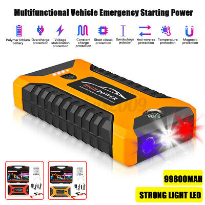 AU58.99 • Buy Portable 99800mAh Car Jump Starter Vehicle Booster 12V Power Bank Battery Auto A