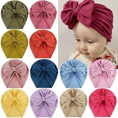 AU2.87 • Buy Toddler Kids Baby Boys Girls Solid Bow Knotted Hat Beanie Headwear Accessories