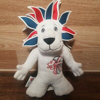 London 2012 Lion Olympic Games Team GB Official Mascot Toy Plush Collectible • 5.99£
