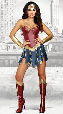 £16.99 • Buy Adult Wonder Woman Costume Women Halloween Party Cosplay Fancy Dress Outfit