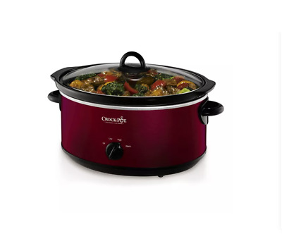 $ CDN50.12 • Buy Crock-Pot Design To Shine 7 Quart Slow Cooker RED Brand New With Damaged Box